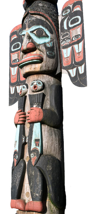 Ketchikan Fog Woman Totem Pole